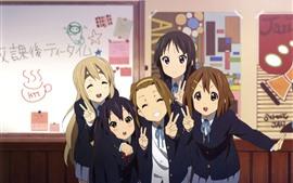 Preview wallpaper Cute anime girls, schoolgirl, classroom