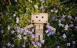 Preview wallpaper Danbo, purple little flowers