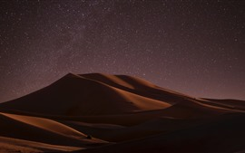 Preview wallpaper Desert, night, dune, starry, stars