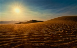 Preview wallpaper Desert, sun, sand, shadow