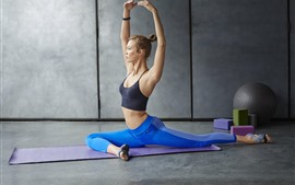Preview wallpaper Fitness girl, yoga, sport