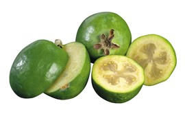 Preview wallpaper Fresh feijoa, fruit, white background