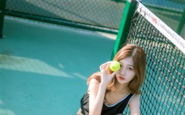 Preview wallpaper Girl and tennis