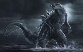 Preview wallpaper Godzilla, art picture