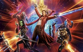 Preview wallpaper Guardians of the Galaxy 2, heroes, space, battle