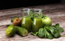 Preview wallpaper Juice, kiwi, apple, vegetable, lemon