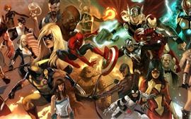 Cómics de Marvel, superhéroes, imagen artística