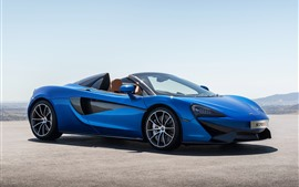 Preview wallpaper McLaren 570S blue supercar