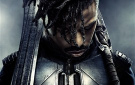Preview wallpaper Michael B. Jordan, Black Panther
