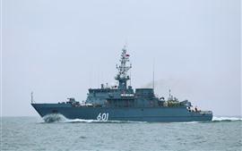 Military ship, sea