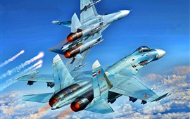 Preview wallpaper Multipurpose fighter, flight in sky