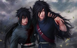 Preview wallpaper Naruto, two anime boys