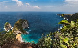 Preview wallpaper Nusa Penida, island, sea, beach