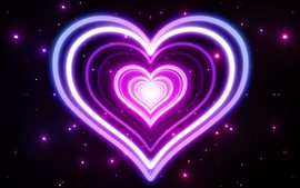 Preview wallpaper Pink neon love heart