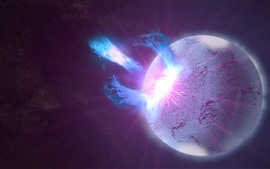 Preview wallpaper Planet, gamma ray, explosion
