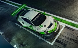 Preview wallpaper Porsche 911 GT3 R race car top view
