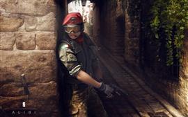 Радуга шесть Осада, девушка, пистолет
