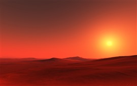 Preview wallpaper Red desert, sunshine