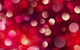 Aperçu fond d'écran Cercles lumineux rouges, fond Abstrait