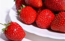 Fresa roja, fruta, bayas