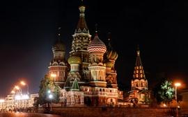 São Petersburgo, Rússia, igreja, noite, luzes