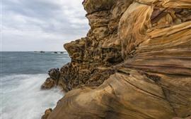 Vorschau des Hintergrundbilder Meer, Felsen, Textur