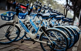 Preview wallpaper Shared bicycle, city