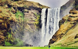 Preview wallpaper Skogafoss, waterfall, Iceland