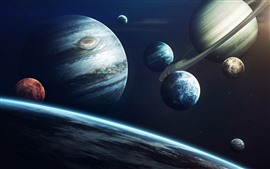 Preview wallpaper Solar system, planets, jupiter, universe