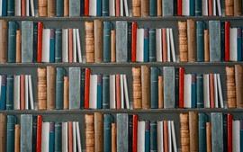 Some books, bookcase