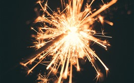 Preview wallpaper Sparks, glitter, night