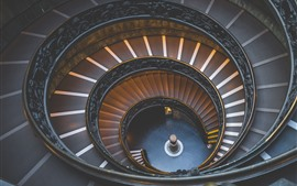 Escadas, em espiral, interior