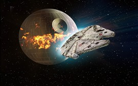 Preview wallpaper Star Wars, Death Star, spaceship