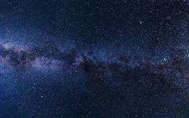 Estrellado, estrellas, espacio, noche