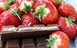 Preview wallpaper Strawberry and chocolate, fruit