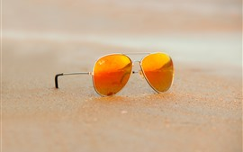 Sunglass, playa, arena