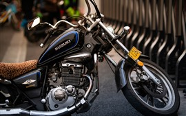 Preview wallpaper Suzuki motorcycle, street