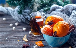 Mandarinas, Bol, té