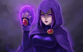 Preview wallpaper Teen Titans, purple hair girl, DC Comics