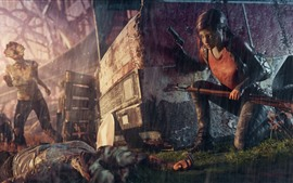 Preview wallpaper The Last of Us, girl, rain