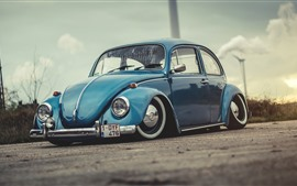 Preview wallpaper Volkswagen Beetle 1972 blue car
