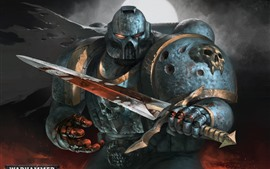 Preview wallpaper Warhammer 40000, warrior, armor, sword