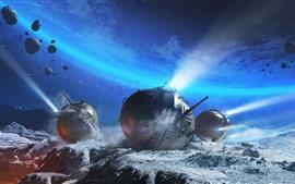 World of Tanks, space, stones