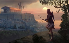 Preview wallpaper Assassin's Creed: Odyssey, girl, archer, Greece, art picture
