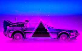 Car, blue and purple, art design