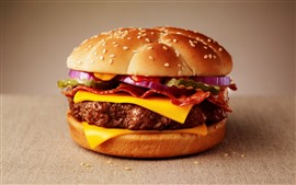 Preview wallpaper Cheeseburger, fast food