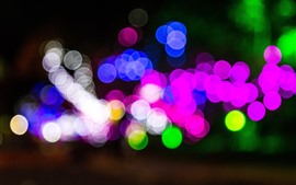 Preview wallpaper Colorful light circles, blue, pink, green, white