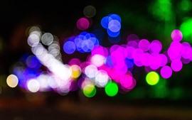 Círculos de luz coloridos, azul, rosa, verde, branco