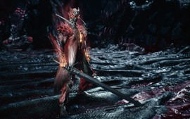 Aperçu fond d'écran Devil May Cry 5, guerrier, épée