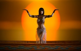Египетская девушка, поза, украшение